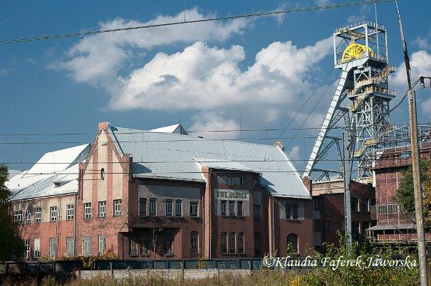 Widoka na kopalnię Bobrek z peronu