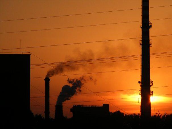 Koksownia - zachód słońca