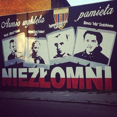 Bytom, Rozbark, mural Niezłomni