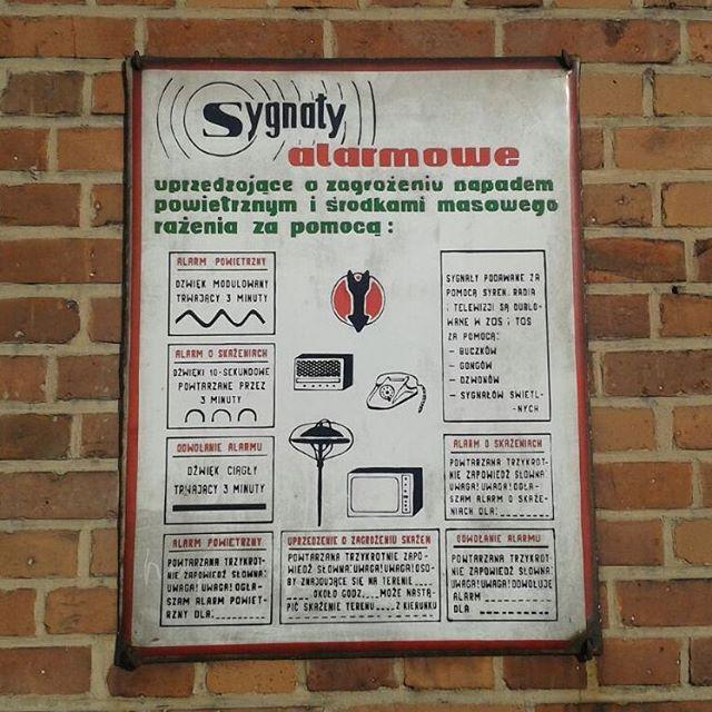 Zabrze, tablica sygnałów alarmowych