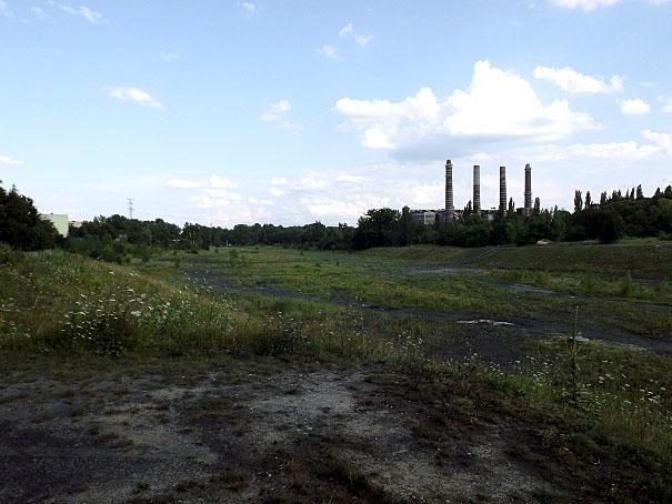 Widok na dawną kopalnię Miechowice w Bytomiu