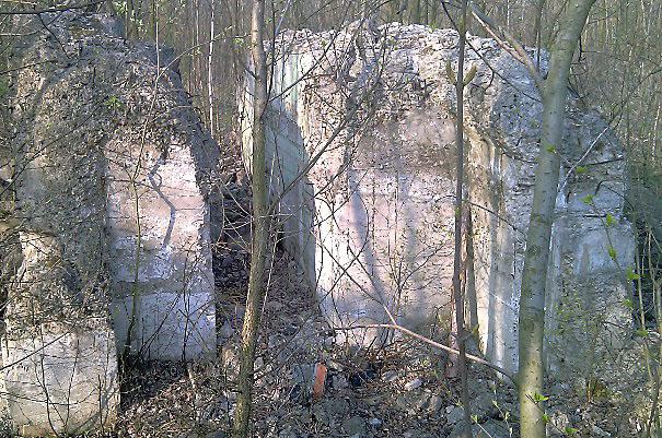 Pozostałości po szybie Lompy