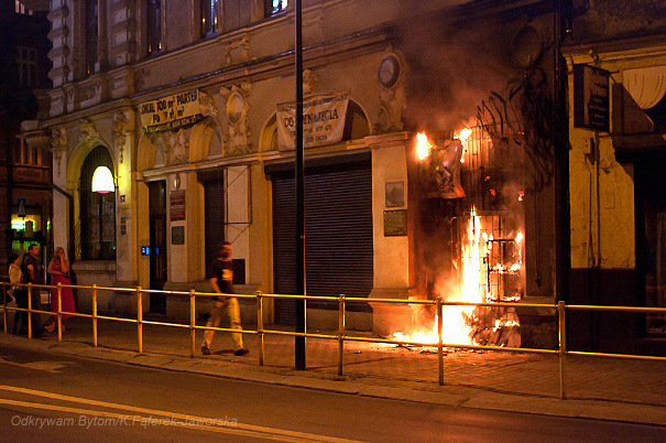 Pożar w Bytomiu
