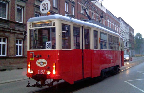 Tramwaj linii 38 w Bytomiu